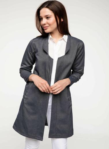 DeFacto Uzun Blazer Ceket Mavi